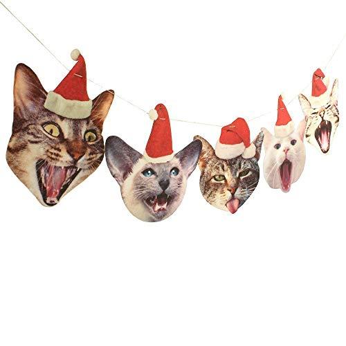 Christmas Cats Felt Garland