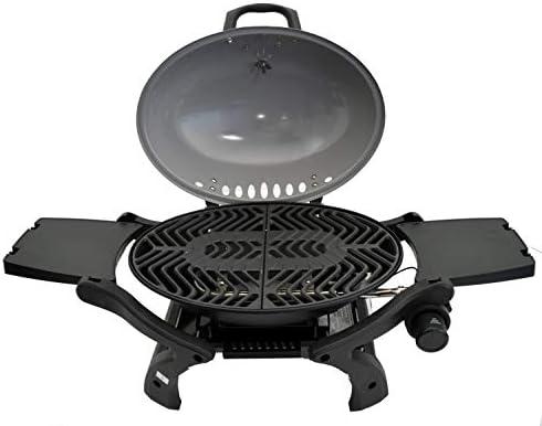 ACTIVA Barbecue de table à gaz Crosby - Brûleur de 3,4 kW - Gris