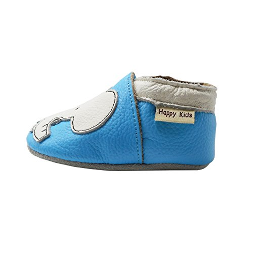 df88dfdb371ab YIHAKIDS Chaussure en Cuir Souple Chaussons pour enfant Bébé Garçon Fille  Premiers Pas Chaussons ...