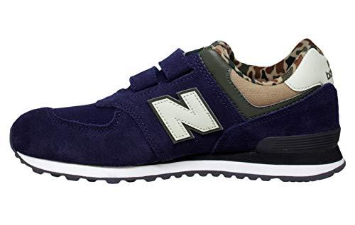 Sneakers Bambino Iv574 Scarpe Blu Balance Strappo New Camouflage Hn w0qppX