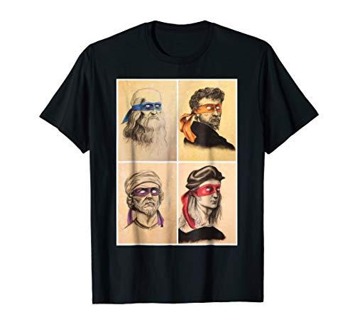 Renaissance Ninja Artists Poster Style Pop Art -