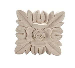 American Pro Decor 5APD10357 Small Carved Wood Applique