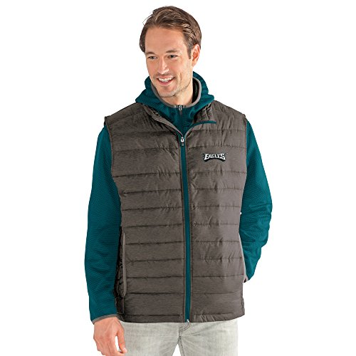 Philadelphia Eagles Mens Jackets - G-III Sports NFL Philadelphia Eagles Adult Men Cold Front 3-in-1 Systems Jacket, Large, Green/Gray