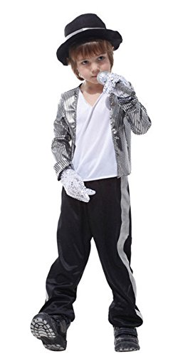 Halloween Costumes Prince Performance Clothing Michael Jackson Boys Children (Michael Jackson Microphone)