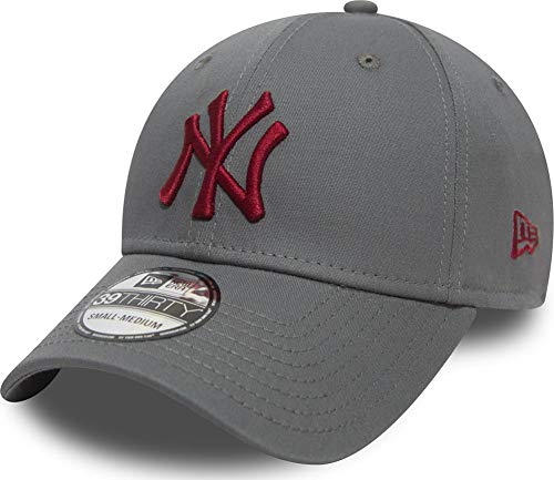 kees League Essential Grey Cardinal Red Stretch Fit Cap 3930 39thirty Curved Visor S M ()