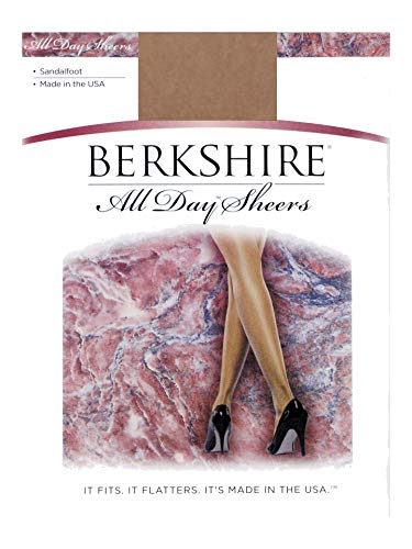 Berkshire Women's All Day Sheer Non-Control Top Pantyhose - Sandalfoot, City Beige, 1-2