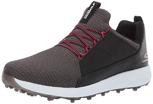 Skechers Women's Max Mojo Spikeless Golf Shoe, Black/Hot Pink, 9 W US ()