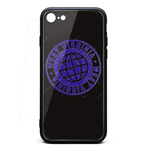 Fancy iPhone 7/8 Cell Phone Case Scratched Textured WEST Virginia Stamp iPhone 7 iPhone Cover Cool iPhone 8 -