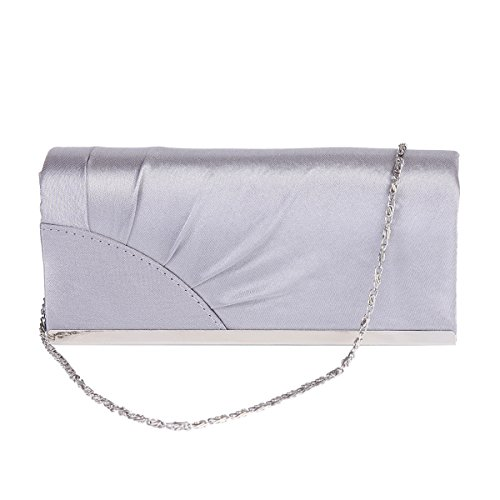 Pleated Cornor Champagne Cross body Damara Evening Metal Bag Edge Womens 5ExqUg