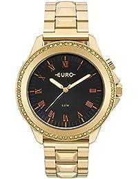 Moda - Dourado - Relógios   Feminino na Amazon.com.br 5579e2d8f1