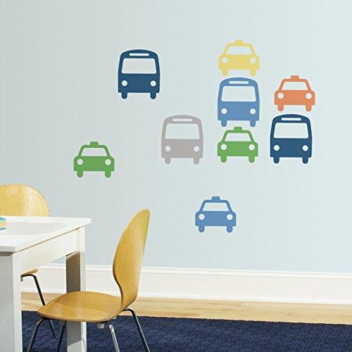 Dwellstudio Transportation (RoomMates RMK3363GM DwellStudio Transportation Peel and Stick Giant Wall Decals)