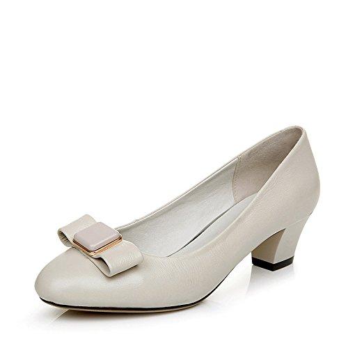 Cuero El Mujer Elegante 16115 Alto Estilos Muchos Zapatos De Beige Mujer Talón BrRwdBq