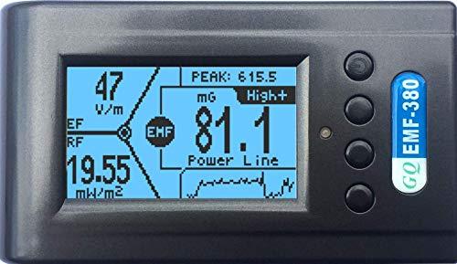 Advanced GQ EMF-380 V2 Multi-Field Electromagnetic Radiation 3-in-1 EMF ELF Meter RF Spectrum Analyzer Ghost Cell Tower Smart Meter WiFi hiden Spy Camera Signal Bug Detector RF up to 8G