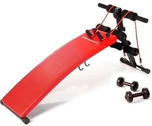 Ultrasport - Banco para ejercicio, color rojo
