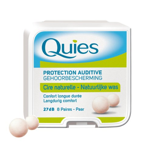 (Quies Protection Auditive Wax Earplugs 8pairs plugs by Quies)