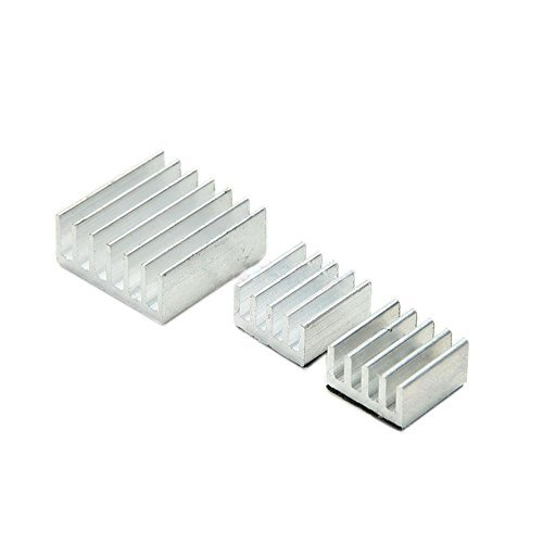 TOOGOO(R) 3PCS/set Aluminum Heatsink Cooler Adhesive Kit for Cooling Raspberry Pi