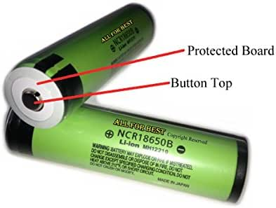 AllForBest® Button Top /Protected Board/OEM Authentic Panasonic 18650 NCR18650B /3400mAh/For Flashlight