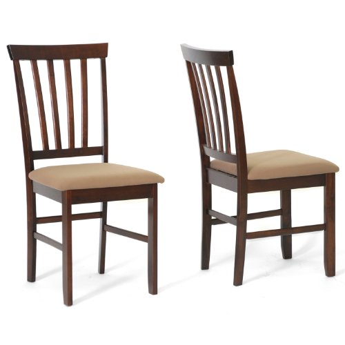 Baxton Studio Tiffany Wood Modern Dining Chair, Brown, Set of 2 by Baxton Studio (Image #2)