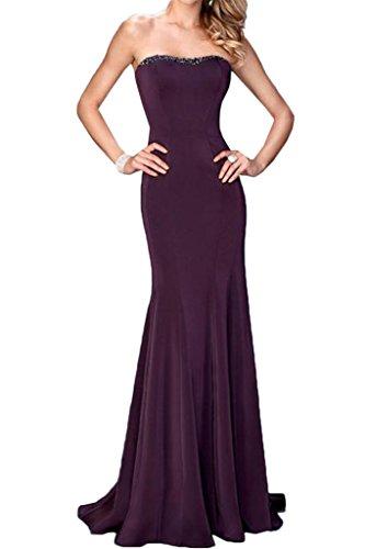Modisch Linie Traegerlos Ivydressing Festkleid Damen Promkleid Steine Traube Partykleid Abendkleid Etui ErqqXn5xZ