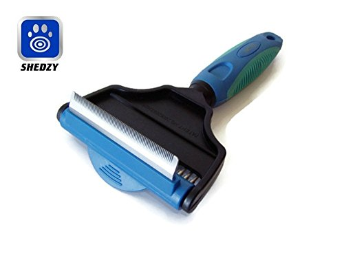 Shedzy 2-in-1 Shedding Tool Thinning Comb and Wide Tooth Rake Pivoting Top Cat Dog Puppy Kitten Grooming for Long Medium and Short Coats the Deshedding Dematter Removes Excess Hair the - How Is Fast Zoom