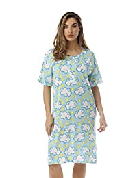 JUST LOVE Short Sleeve Nightgown Sleep Dress for Women