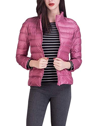 Fashion Plus Donna Manica Hot Di Slim Prodotto Semplice Collo Glamorous Solidi Eleganti Pink Cappotto Giacca Casual Piumino Coreana Piumini Lunga Colori Ultralight Transizione Fit 2 Invernali IpqWw
