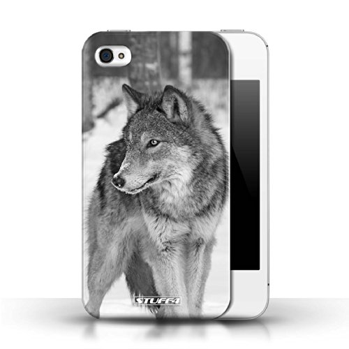 Hülle Case für Apple iPhone 4/4S / Wolf Entwurf / Zoo-Tiere Collection