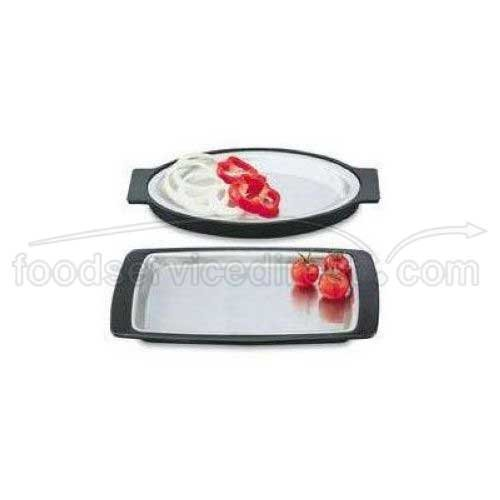 Vollrath 81170 Oval S/S Sizzling Platter with Black Underliner (Vollrath Platters Oval)