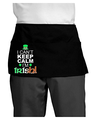 TooLoud I Can't Keep Calm I'm Irish Dark Adult Mini Waist Apron - Black - One-Size