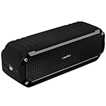 Bluetooth Speaker, COMISO Waterproof Speaker Outdoor with Flashlight Up to 15 Hour Playtime, Portable Bluetooth 4.0 Wireless Speaker with Dual 5W Drivers Strong Bass and Microphone - (Jet Black)