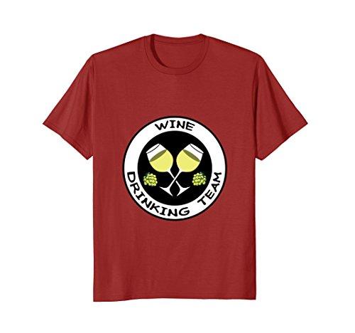 White Wine Drinking Team Shirt (Wine Drinking T-shirt)