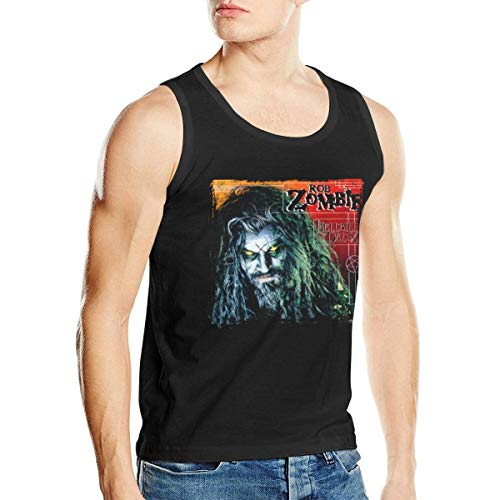 - Man's Rob Zombie Hellbilly Deluxe Crew Neck Summer Muscle Tank Top Shirt XXL Black