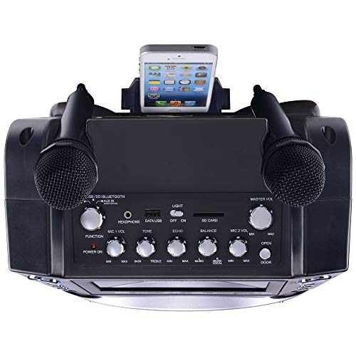 Karaoke GF842 DVD/CDG/MP3G Karaoke System with 7'' TFT Color Screen, Record, Bluetooth and LED Sync Lights by Karaoke USA (Image #12)