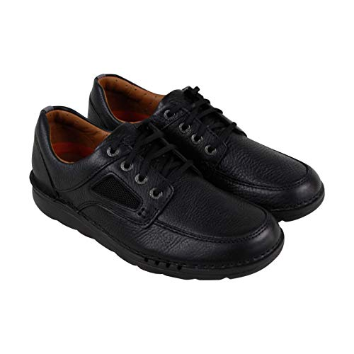 CLARKS Unnature Time Mens Lace Up Oxfords Black Leather 11.5 W