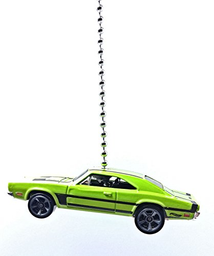 hot-wheels-car-truck-ceiling-fan-pull-beaded-chain-1969-dodge-charger-500-light-green