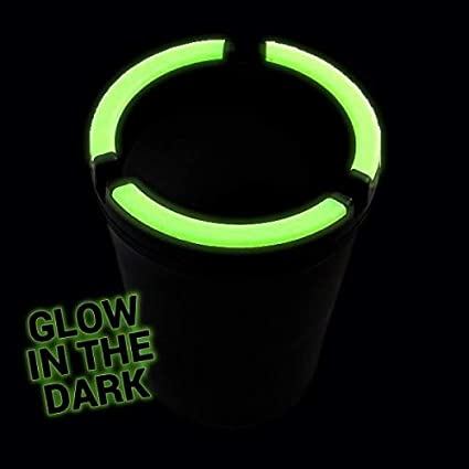 Blue, Regular VIP Home Essentials Stub Out Glow in The Dark Cup-Style Self-Extinguishing Butt Bucket Ashtray