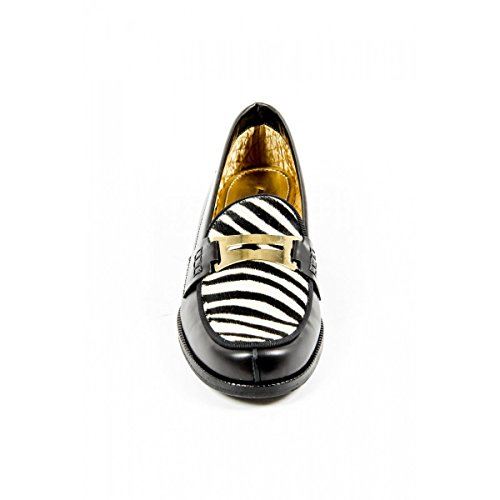 Måtta Kvinna Loafer Frida Antracit Zebra