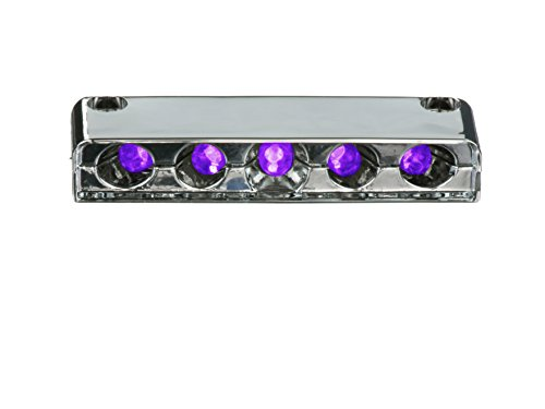 Innovative Lighting 5 Purple LED Step Light with Screw Mount, Chrome Case