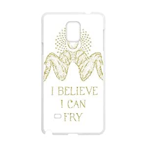 Samsung Galaxy Note 4 Cell Phone Case White_I BELIEVE I CAN FRY Zpltk