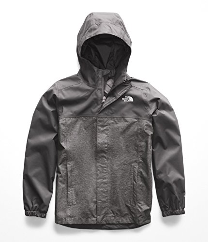The North Face Boy's Resolve Reflective Jacket - Graphite Grey Heather - XS
