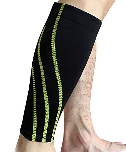 Price comparison product image ChezMax Calf Compression Sleeve-Guard for Running,  Cycling,  Maternity,  Black