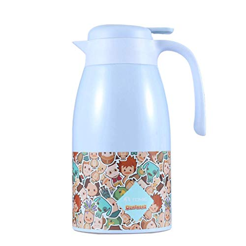 Zcxbhd Home Insulation Pot Stainless Steel Liner Lovely Sun Duck Cartoon Coffee Pot For Tea/fruit Juice Etc. Storage 2.0L (color : Blue)