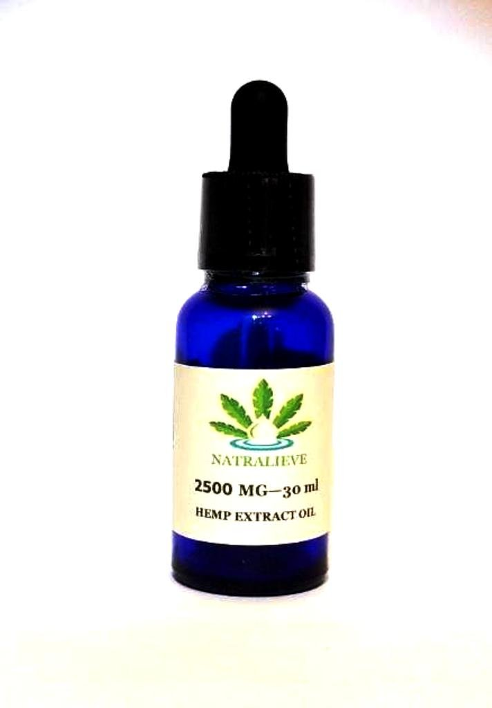 Natralieve Hemp Extract Oil 2500mg - Pain, Stress, Sleep, Anxiety, Focus, Mood Support - Natural Anti-Inflammatory. Rich in MCT Fatty Acids. All Natural Ingredients