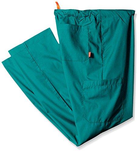 Orange Standard Men's Big and Tall Huntington Unisex Scrub Pants with Drawstring Waist and 4 Pockets, Hunter 2X