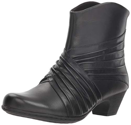 Rockport Women's Brynn Rouched Boot Ankle, Black, 8.5 M US (Rockport Boot Women)