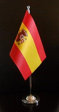 De la bandera de España de la bandera de raso escritorio para ...