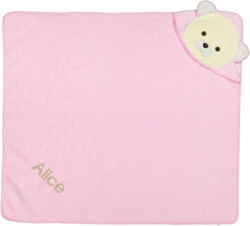 Berry bebe - PERSONALIZED BABY GIFT, Baby Hooded Towel, BATH WRAP, Pink, Ultra soft and absorbant, perfect baby shower gift, for baby girl