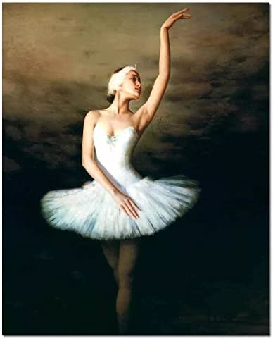 Amazon Com New Paint By Number Kits Dancer Ballet Ballerina White Girl 16x20 Inch Diy Painting By Numbers For Adults Beginner Kids Without Frame