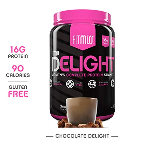 FitMiss Delight Protein Powder, Healthy Nutritional Shake for Women, Whey Protein, Fruits, Vegetables and Digestive Enzymes, Support Weight Loss and Lean Muscle Mass, Chocolate, 2-Pound