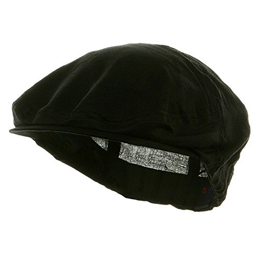 Lightweight Linen Cotton Blend Black Ivy Colf Cap